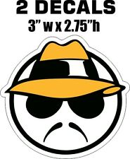 2 Round Lowrider Low Rider Guy Vinyl Decals