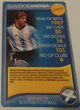 C. Caniggia Top Trumps Heroes of Scottish Football (Issued 2008 - Single Card)