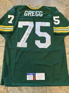 Forrest Gregg Signed Green Bay Packers Jersey Size 52 GAI & APEX COA