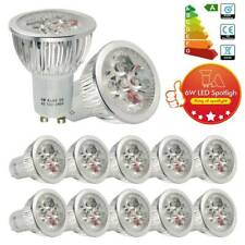 12x GU10 6W=50W LED Spot Light Bulbs Spotlight Downlight Day White Lamp Rating A