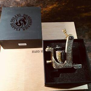 Hand engraved Compass Brass Tattoo Machine Straight Shader