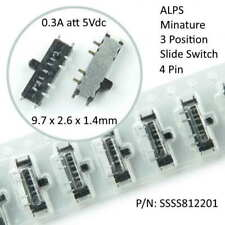 5pcs Alps 1 Pole 3 Position Miniature Smd Slide Switch 4 Pin Ssss812201 Usa