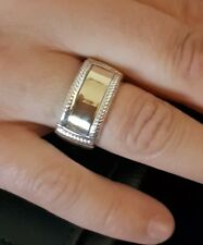 MENS RING TWO TONE SAME DAY SHIPPING SIZE 13US /AU Z+1
