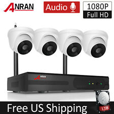 1080P Home Security Camera System Wireless Audio Recording 8Ch Nvr Dome 1Tb Cctv