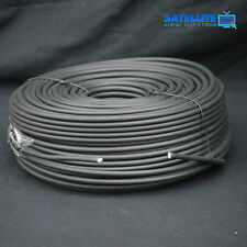 30m Black RG6 Satellite Freesat Digital TV Aerial Coax Cable Coaxial Lead wire