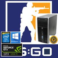 Gaming PC Desktop: HP Intel Core i5 3.6GHz@GTX 1050Ti@WiFi@USB3.0@PUBG@Fortnite