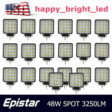 "20pcs 48W 4""in Led Work Lights Spot OffRoad SUV Toyot Boat Truck GMC 27W/18W/24W"