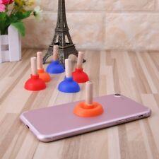 Mini Colorful Toilet Shape Plunger Holder Sucker Stand For Mobile Phone PSP Hot