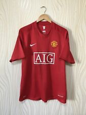 MANCHESTER UNITED 2007 2009 HOME FOOTBALL SOCCER SHIRT JERSEY NIKE