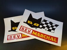 2 x Classic SEV Marchal Stickers Race & Rally Car Stickers.