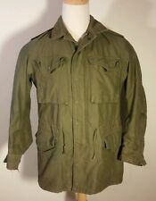 VTG US Army Vietnam1964 Field Coat Jacket Og-107 Small Military Distressed