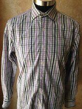 English Laundry Mens Shirt Size 15 (32/33 Stunning Contrast Paisley Cuff Collars