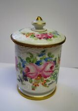 Antique Limoges Sevres Style French Porcelain Trinket Dresser Box Roses