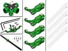 CLOSEOUT Rakon Blade 200SRX CNC 4 Blades Head Combo (Green) - 200SRX025-G