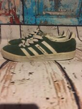 Vintage Champion Green Suede Sneakers Shoes White Stripes Sz 9 Rare