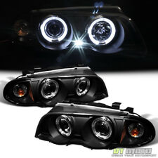 Blk 1999-2001 BMW E46 3-Series Sedan 323i 328i 330 LED Halo Projector Headlights