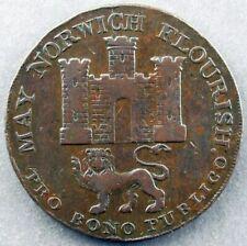 England – Norfolk – Norwich – 1792 ½ Penny Condor Token – D&H 14 ~2167