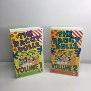 The Raggy Dolls VHS Tapes Volume 1 & 2 ABC TV Show Series Kids Rare Video