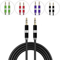 3.5mm Male To Male M/M AUX Audio Cable Cord Lead For Headphone iPod Apple iPhone