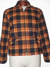 Beautiful DonnyBrook Plaid Jacket Zip Up Coat Fully Lined Wool Blend
