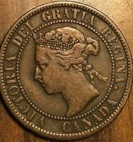 1899 CANADA LARGE CENT PENNY LARGE 1 CENT COIN