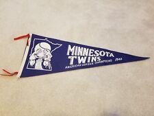 Vintage 1965 Minnesota Twins American League Champions Full Size Pennant