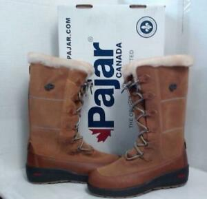 Pajar Women's Nicole Tall Shaft Suede Winter Boots sz 10 Vintage Woody $555