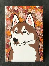 Brown Siberian Husky Alaskan Malamute Magnet Handmade Dog Gifts and Home Decor