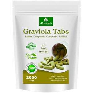 MoriVeda® Graviola Tabs 2000mg Fruchtextrakt 4:1, (1x120 Tabs), inkl Versand