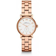 NEW MARC JACOBS MBM3248 LADIES ROSE GOLD BAKER MINI WATCH - 2 YEAR WARRANTY