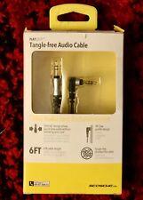 New listing Scosche Tangle Free Audio Cable 6 Ft Lo Profile Design