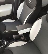 FIAT 500 L Bracciolo nero LATERALI cuciture bianche regolabile lunghezza no viti