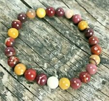 Mookaite gemstone stretch bracelet 8mm bead healing