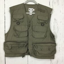 Herters M Fly Fishing Outdoor Vest Tan Khaki Hunting Utility Zip Up Photography