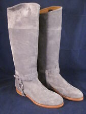 RALPH LAUREN Women Leather Riding Boots Sage Slate Suede 38B 8B ~ NEW in BOX