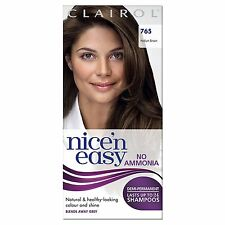 CLAIROL NICE N EASY NON-PERMANENT HAIR DYE NO AMMONIA MEDIUM BROWN 765
