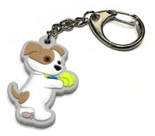 Süßer Schlüsselanhänger DOGGY; entzückendes Hündchen mit Tennisball,Top-Qualität