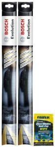 """Bosch 21"""" Evolution Wiper Blades (2 Pack) & Rain-X Glass Cleaner Wipe"""