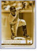 Oscar Mercado 2019 Topps Update Variations 5x7 Gold #US28 /10 Indians
