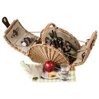 Edler halbrunder Picknickkorb für 2 Personen - Luxus Ausstattung