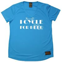 Ladies Cycling Tee - I Cycle For Beer - Breathable DRY FIT V NECK T-SHIRT