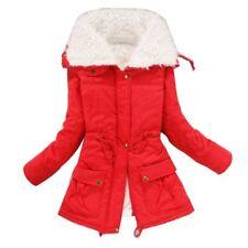 New Womens Thicken Fleece Warm Faux Fur Winter Coat Hooded Parka Overcoat Jacket