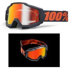 100% Prozent MX Motocross Brille Accuri Gunmetal Rot verspiegelt Enduro Quad