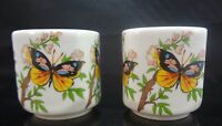 Bavarian Village Butterfly W.Germany Porcelain Candle Holders