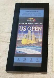 US OPEN (tennis) Acrylic Glass Desk Paperweight Ticket