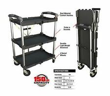Olympia Tools 85-188 3 Shelf Collapsible Service Cart -Heavy Duty -Each Shelf...