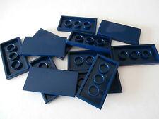 LEGO   12 Fliesen 87079 dunkelblau / earth blue 2x4 Noppen   NEUWARE