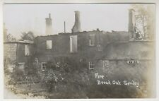 More details for wiltshire postcard - fire at broad oak, semley, nr shaftesbury - rp (a44)
