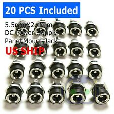 20PCS 5.5mm x 2.1mm DC Power Supply Female Jack Socket Panel Mount Connector M81