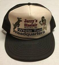 Vtg Jerry Sinclair White Tail Trucker Hat Richardton North Dakota Cap Hunting ND
